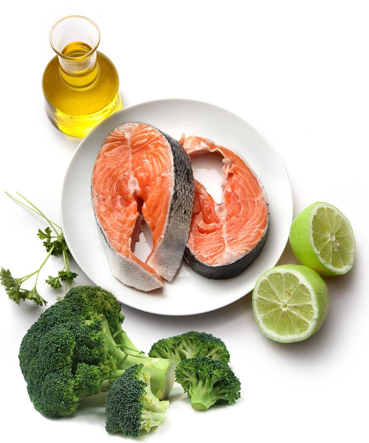 Rezept: Lachsfilet mit Brokkoli