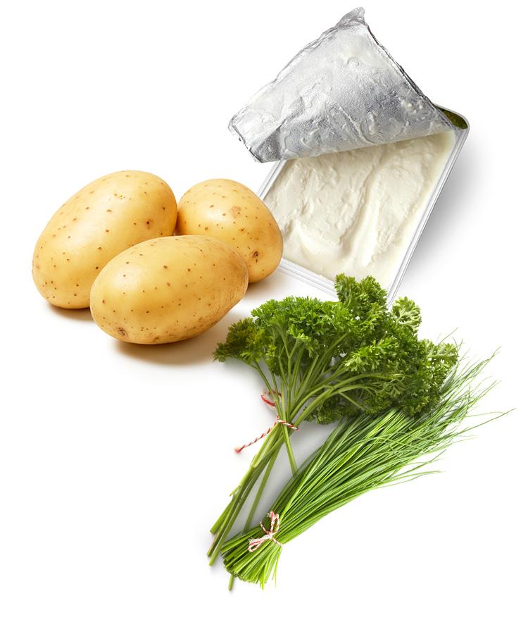 Rezept: Pellkartoffeln mit Quark