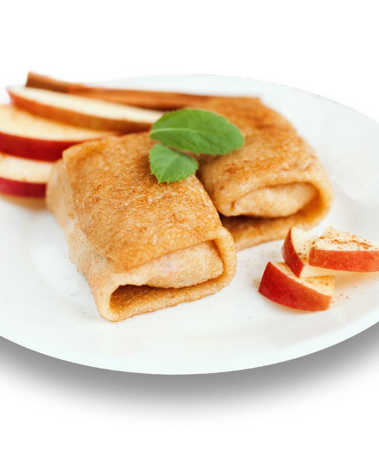 Rezept: Pfannkuchen mit Apfelkompott