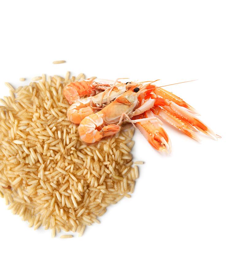 Rezept: Reissalat mit Garnelen