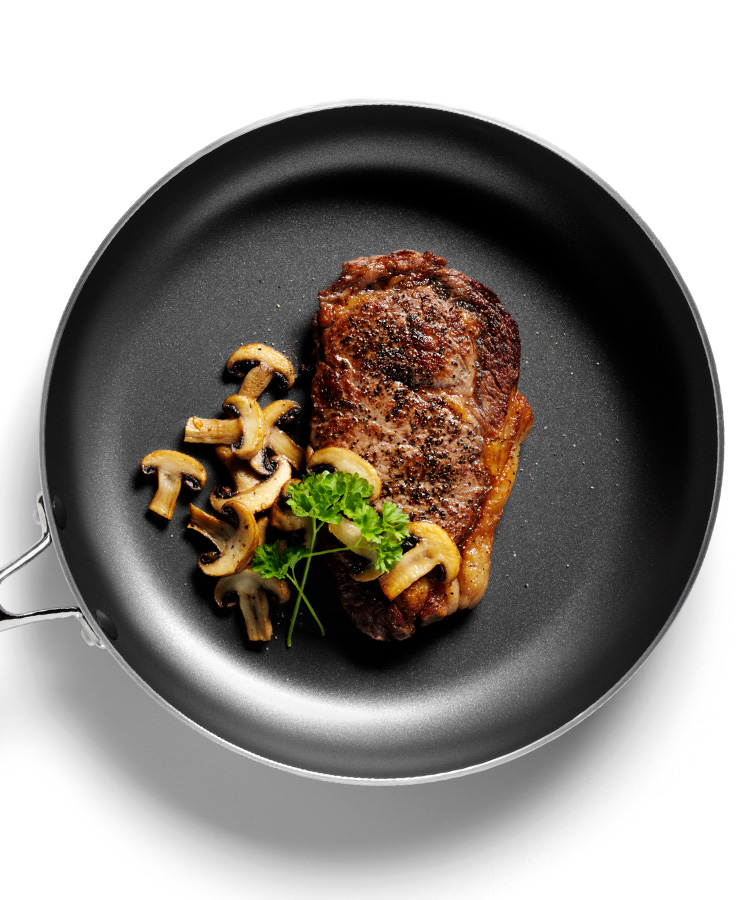 Rezept: Steak mit Champignons